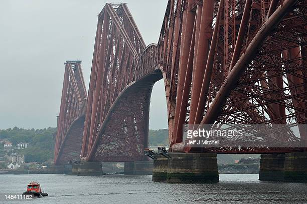 A general view of the Forth Rail Bridge which has been included on a shortlist for Unesco status on May 29 2012 in Queens Ferry Scotland The Forth...