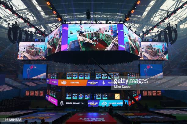 A general view of the Fortnite World Cup Finals during Round One at Arthur Ashe Stadium on July 26 2019 in New York City