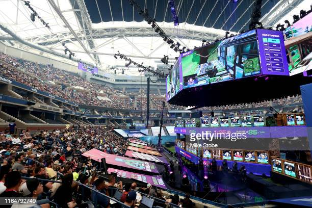 General view of the Fortnite World Cup Finals Final Round at Arthur Ashe Stadium on July 28 2019 in New York City