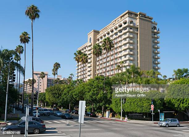 General view of the Four Seasons Hotel in Beverly Hills on December 05, 2016 in Beverly Hills, California.