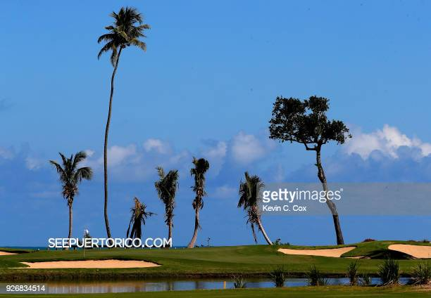 A general view of the fourth green during the second day of the Puerto Rico Open Charity ProAm at TPC Dorado Beach on March 3 2018 in Dorado Puerto...