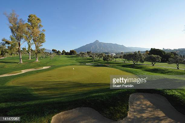 A general view of the fourth hole during the third round of the Open de Andalucia Costa del Sol at Aloha golf club on March 17 2012 in Marbella Spain