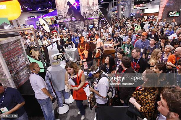 General view of the Fox Booth at the 2008 Comic Con at the San Diego Convention Center on July 25, 2008 in San Diego, California.