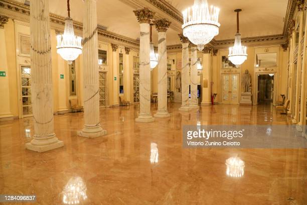 General view of the foyer at the Teatro Alla Scala on November 05, 2020 in Milan, Italy.