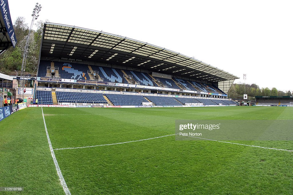 A General View of The Frank Adams Stand prior to the npower League Two League match between Wycombe Wanderers and Northampton Town at Adams Parks on April 16, 2011 in Wycombe, England.