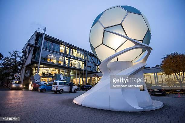 A general view of the Frankfurt headquarters of the DFB Germany's football association on November 3 2015 in Frankfurt am Main Germany German tax...