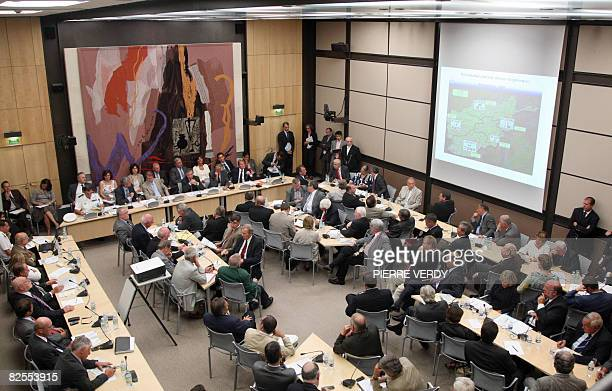 General view of the French Defence and Foreign affairs commissions hearing focused on the situation in Afghanistan on August 26 2008 in Paris at the...