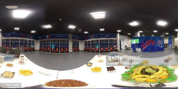 General view of the French dressing room prior to the 2019 FIFA Women's World Cup France group A match between France and Norway at Stade de Nice on...