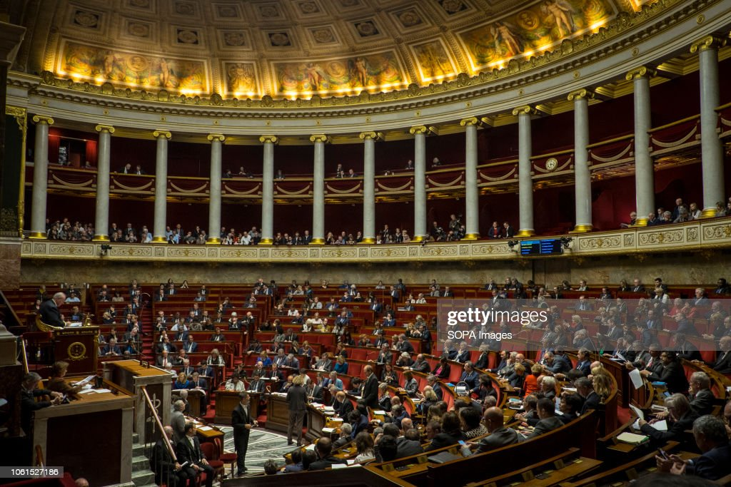 General view of the French National Assembly during a... : Fotografía de noticias
