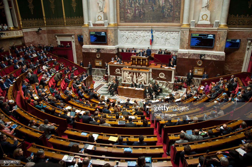 General view of the French national assembly... : Fotografía de noticias