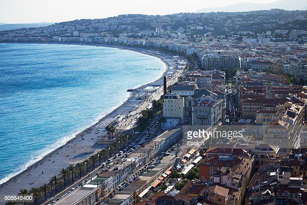 A general view of the French riviera city of Nice city of Nice on May 11 2014 in Nice France