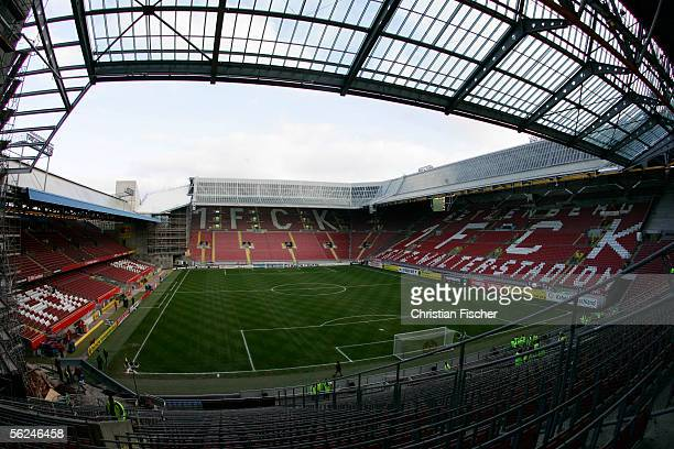A general view of the FritzWalter Stadium before the Bundesliga match between 1FC Kaiserslautern and 1FC Nuremberg at the FritzWalter Stadium on...
