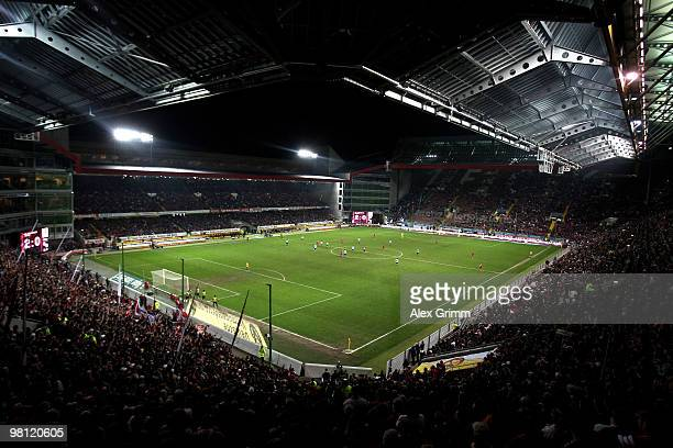 General view of the FritzWalter Stadium during the Second Bundesliga match between 1 FC Kaiserslautern and 1860 Muenchen on March 29 2010 in...