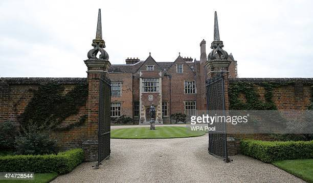 A general view of the front entrance to Chequers the Prime Minister's official country residence as European Commission President JeanClaude Juncker...