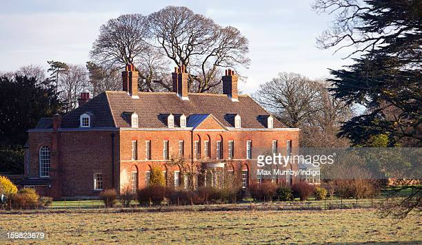 A general view of the front of Anmer Hall on the Sandringham Estate on January 13 2013 in King's Lynn England It has been reported that Queen...