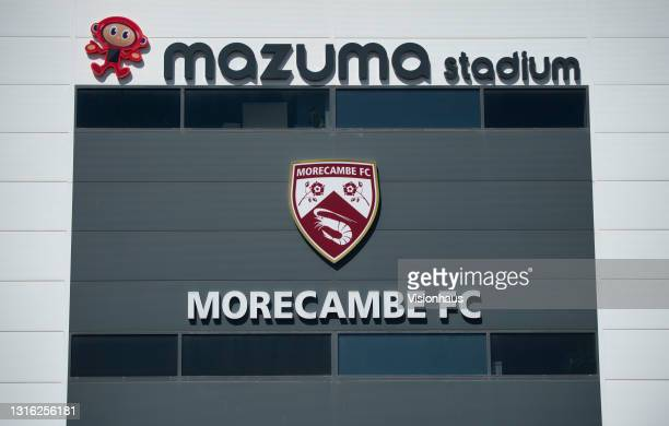 General view of the front of the Mazuma Stadium, home of Morecambe FC, before the Sky Bet League Two match between Morecambe and Bolton Wanderers at...