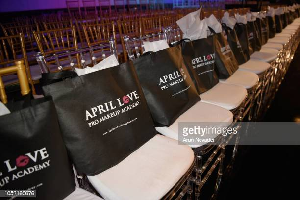 A general view of the front row as seen at Los Angeles Fashion Week Powered by Art Hearts Fashion LAFW SS/19 Day 4 at The Majestic Downtown on...