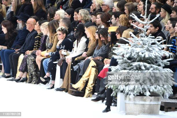 General view of the front row during the Chanel show as part of the Paris Fashion Week Womenswear Fall/Winter 2019/2020 on March 05, 2019 in Paris,...