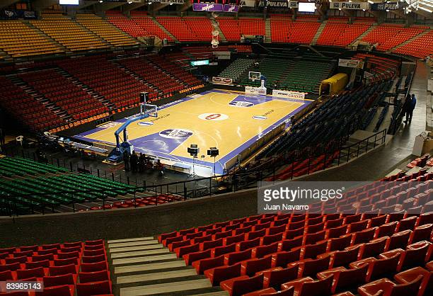 General view of the Fuente San Luis pavillion during the Eurocup Basketball Game 3 match between Pamesa Valencia and Artland Dragons at Pabellon...