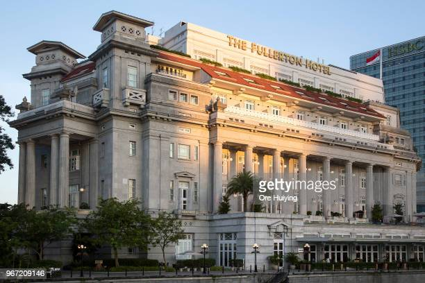 General view of the Fullerton Hotel on June 4 2018 in Singapore US President Donald Trump announced on Friday that the historic meeting with North...
