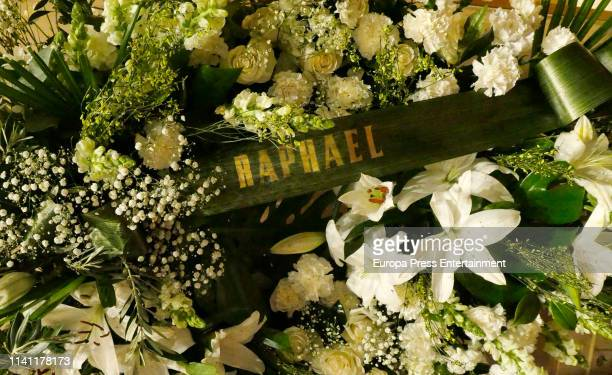 A general view of the funeral chapel for Alberto Cortez on April 05 2019 in Madrid Spain