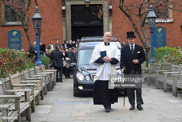 General view of the funeral of Christopher Cazenove held at St Paul's Church in Covent Garden on April 16 2010 in London England