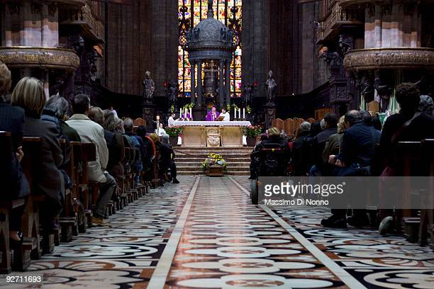 A general view of the funeral service for Italian Poetess Alda Merini at the Milan Cathedral on November 4 2009 in Milan Italy Poetess Alda Merini...