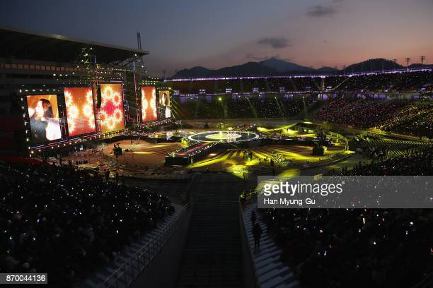 General view of the G100 Dream Concert on November 4 2017 in Pyeongchanggun South Korea