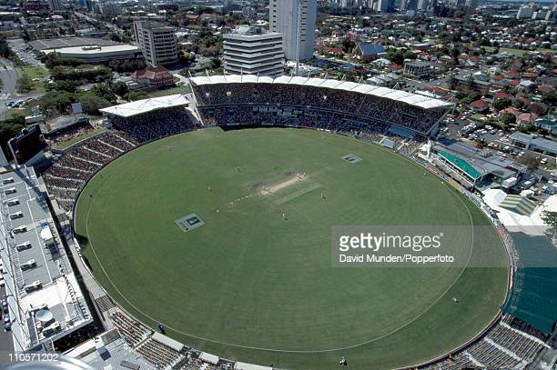 A general view of The Gabba cricket ground in Brisbane during the 1st Test match between Australia and the West Indies on 22nd November 1996...