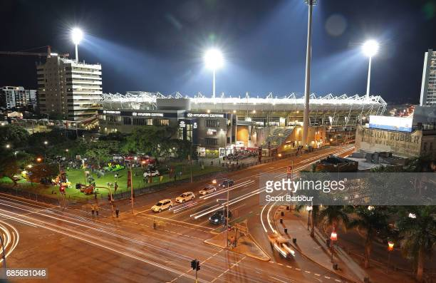 A general view of The Gabba during the round nine AFL match between the Brisbane Lions and the Adelaide Crows at The Gabba on May 20 2017 in Brisbane...