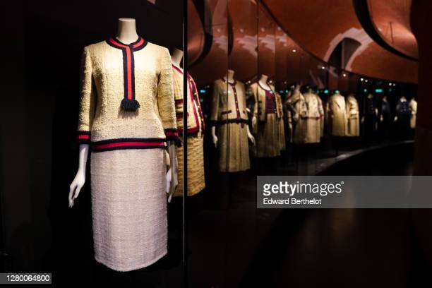 """General view of the """"Gabrielle Chanel - Manifeste de Mode"""" exhibition, during the Picto Awards 2020 at Palais Galliera on October 13, 2020 in Paris,..."""
