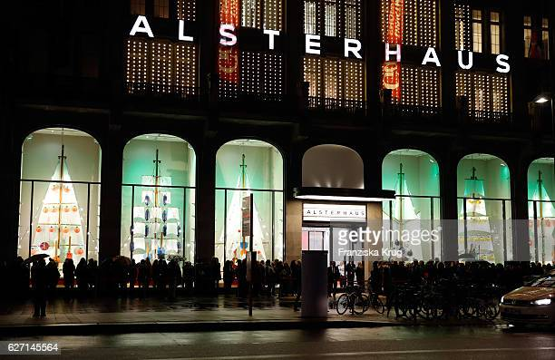 A general view of the GALA Christmas Shopping Night 2016 at Alsterhaus on December 1 2016 in Hamburg Germany