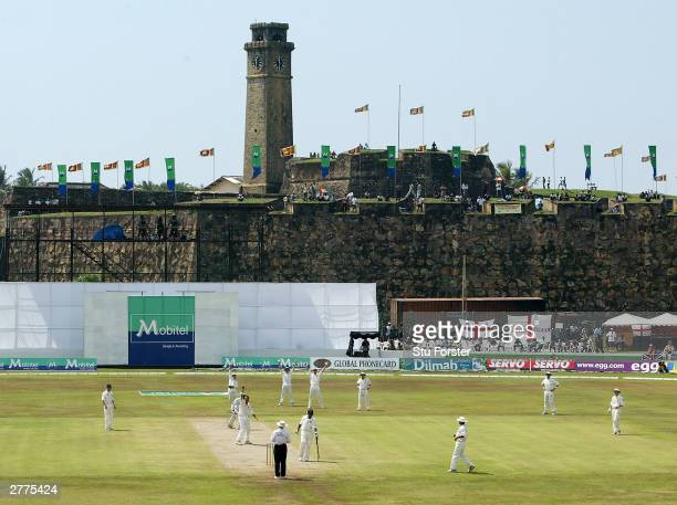 General view of the Galle stadium during the first day of the first test match between Sri Lanka and England at the Galle International Stadium on...