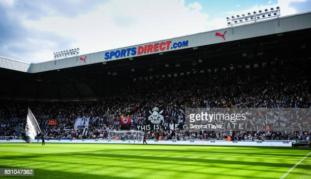 A general view of the Gallowgate stand during the Premier League Match between Newcastle United and Tottenham Hotspur at StJames' Park on August 13...