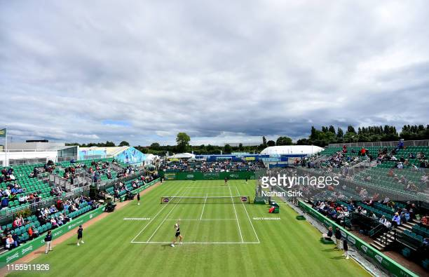 General view of the game between Kristina Mladenovic of France and Donna Vekic of Croatia during day five of the Nature Valley Open at Nottingham...