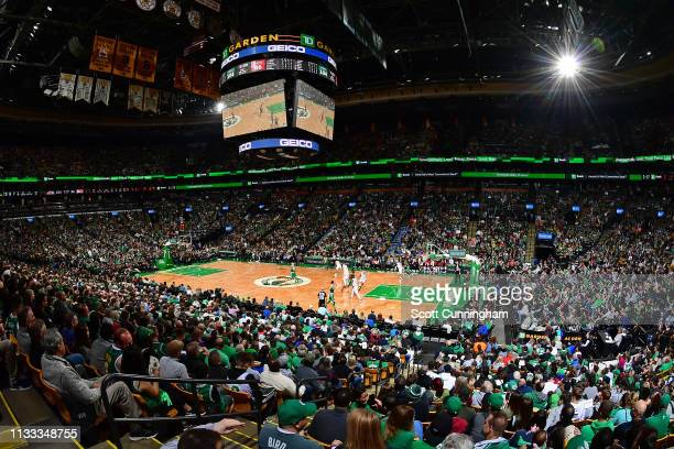 A general view of the game between the Atlanta Hawks and Boston Celtics on March 16 2019 at the TD Garden in Boston Massachusetts NOTE TO USER User...
