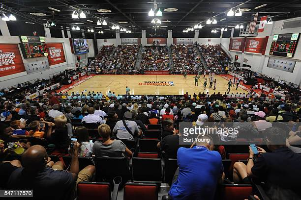 A general view of the game between the Boston Celtics and Cleveland Cavaliers during the 2016 NBA Las Vegas Summer League game on July 13 2016 at the...