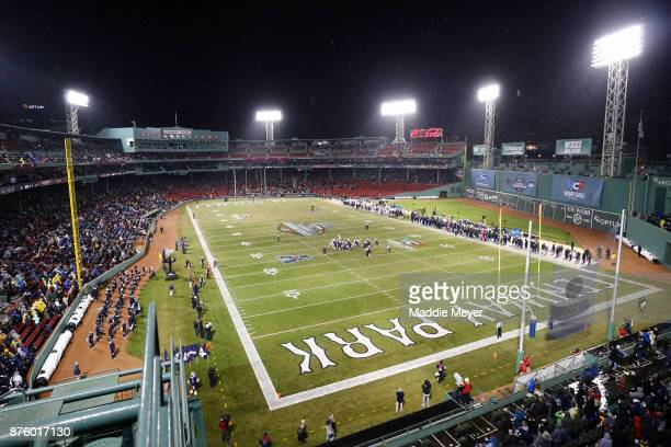A general view of the game between the Boston College Eagles and the Connecticut Huskies during the first quarter at Fenway Park on November 18 2017...
