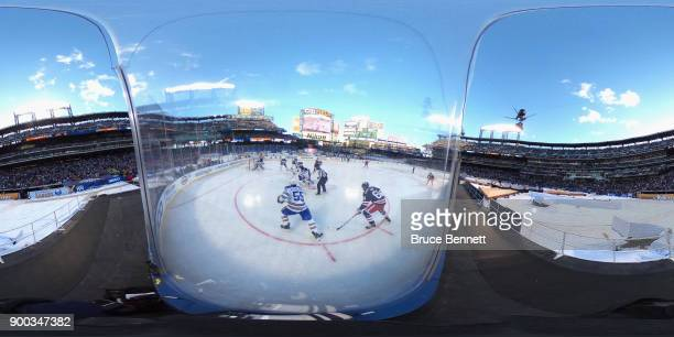 A general view of the game between the Buffalo Sabres and the New York Rangers during the 2018 Bridgestone NHL Winter Classic at Citi Field on...