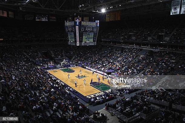 A general view of the game between the Detroit Pistons and the Milwaukee Bucks on January 21 2005 at the Bradley Center in Milwaukee Wisconsin The...