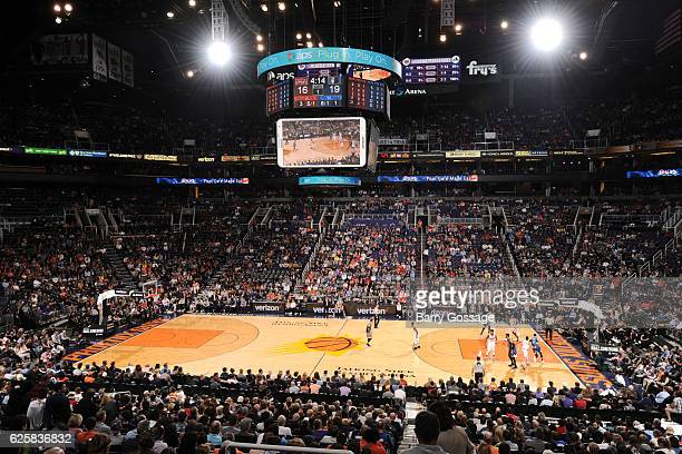 A general view of the game between the Minnesota Timberwolves and Phoenix Suns on November 25 2016 at Talking Stick Resort Arena in Phoenix Arizona...