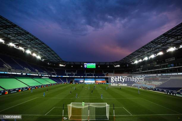 General view of the game between the New York City and the Columbus Crew at Red Bull Arena on August 24, 2020 in Harrison, New Jersey.