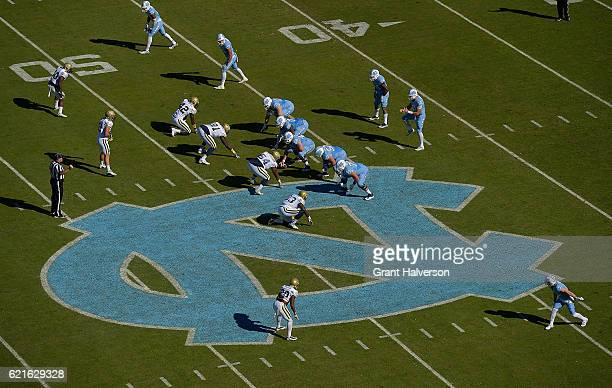 General view of the game between the North Carolina Tar Heels and the Georgia Tech Yellow Jackets at Kenan Stadium on November 5 2016 in Chapel Hill...