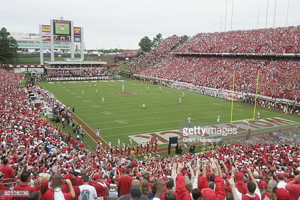 General view of the game between the Ohio State Buckeyes and the North Carolina State Wolfpack on September 18, 2004 at Carter-Finley Stadium Stadium...