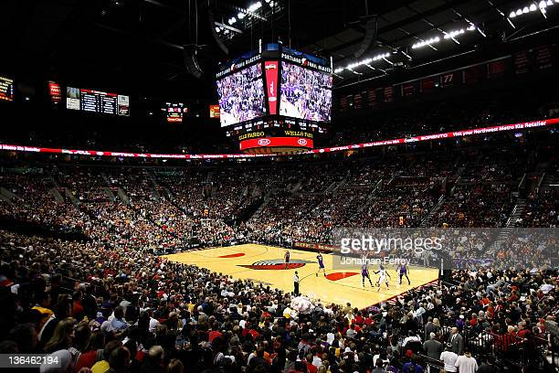 A general view of the game between the Portland Trail Blazers and the Los Angeles Lakers on January 5 2012 at the Rose Garden in Portland Oregon NOTE...