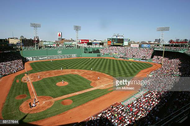 General view of the game between the Tampa Bay Devil Rays and the Boston Red Sox at Fenway Park on April 17, 2005 in Boston, Massachusetts. The Red...