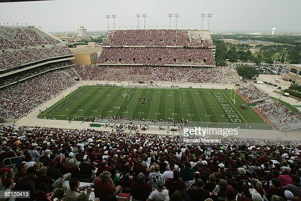 A general view of the game between the Texas AM Aggies and the Wyoming Cowboys on September 11 2004 at Kyle Field in College Station Texas The Aggies...