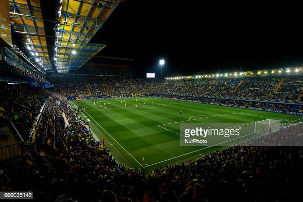 General view of the game during the La Liga match between Villarreal CF and Athletic Club de Bilbao at Estadio de la Ceramica on April 7 2017 in...