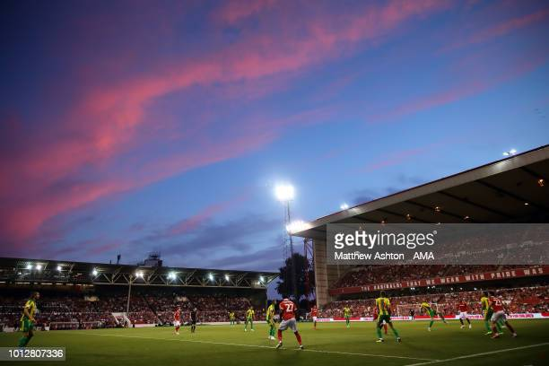 A general view of the game during the Sky Bet Championship match between Nottingham Forest v West Bromwich Albion at City Ground on August 7 2018 in...