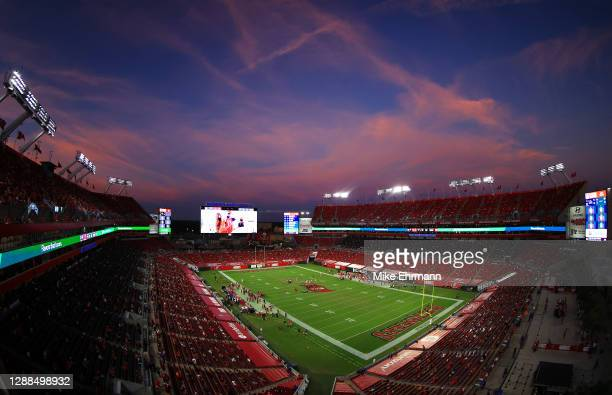 General view of the game in the second quarter between the Kansas City Chiefs and the Tampa Bay Buccaneers at Raymond James Stadium on November 29,...
